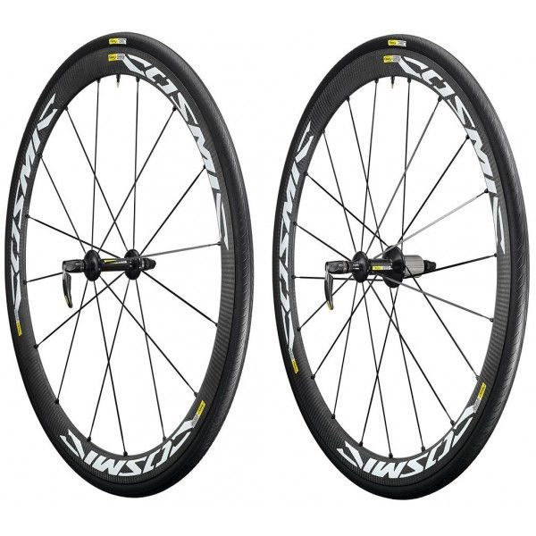 roues v lo route carbone mavic cosmic carbone 40 elite avec pneus. Black Bedroom Furniture Sets. Home Design Ideas