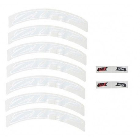 Lot d'autocollants Zipp Decal Set pour roue Zipp 404 blanc