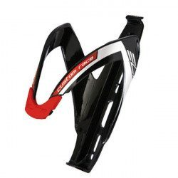 Porte-bidon Elite Custom Race noir brillant logo rouge