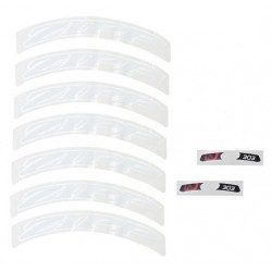 Lot d'autocollants Zipp Decal Set pour roue Zipp 303 blanc