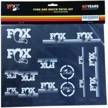 Lot d'autocollants Fox Heritage Decal Set blanc pour fourche et amortisseur