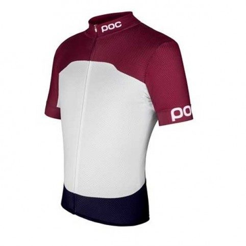 Maillot vélo manches courtes Poc Raceday Climber Rouge Grenade