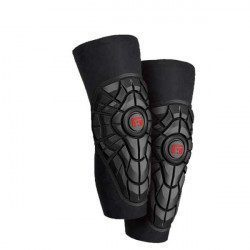 Genouillères vélo G-Form Elite Knee Guards Noir-Rouge 2018