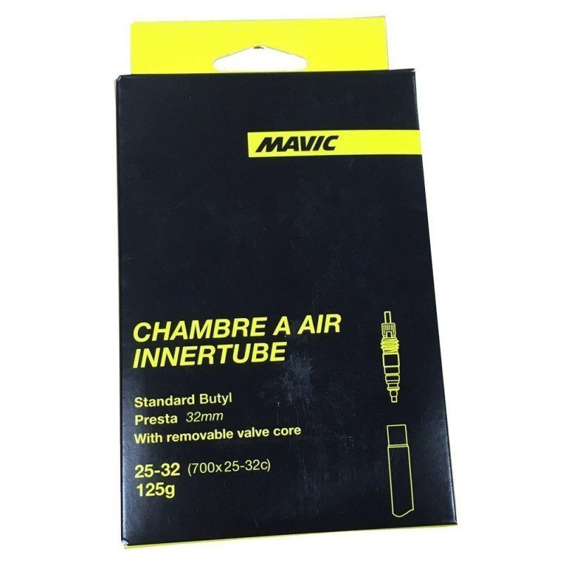 Chambre air v lo route mavic innertube 700x25 32c valve for Chambre a air velo route