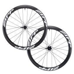Roues vélo route carbone Zipp 303 Firecrest Carbone ClincherTubeless Disc-brake à pneus